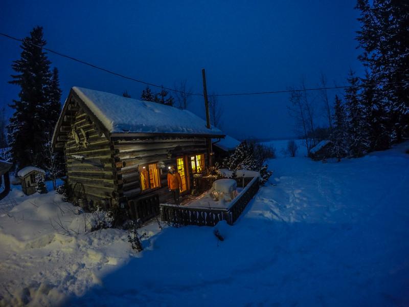 Klemen Premrl, Nakiska Ranch, Helmcken Falls, Wells Gray Provincial Park, BC, Canada. February 2016