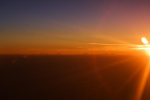 Sunset on the way to Orlando