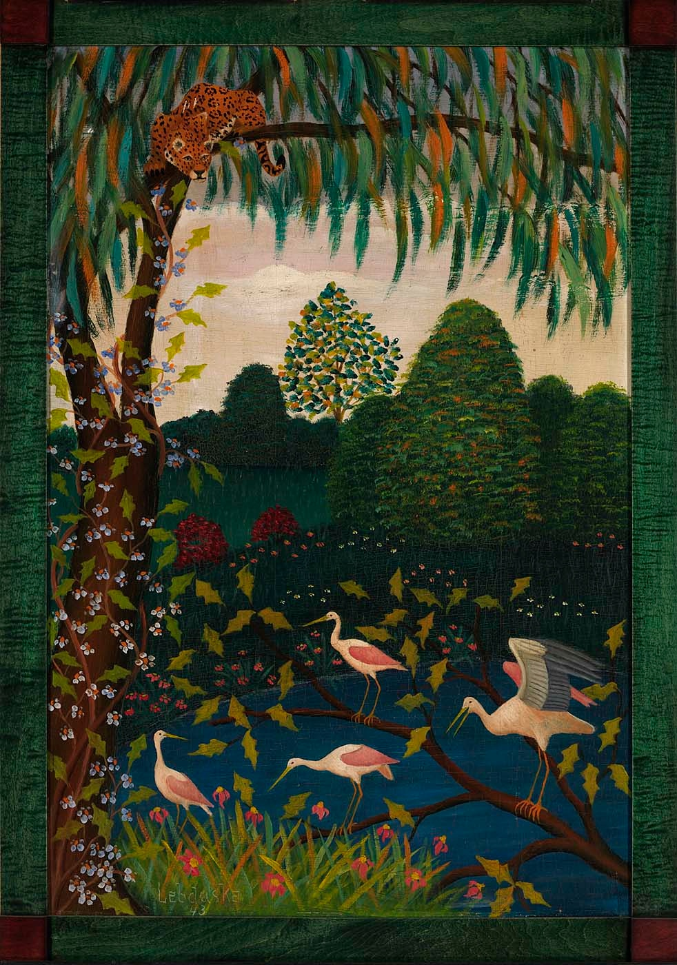 "Lawrence Lubduska, ""Jungle Scene"" (1943)"