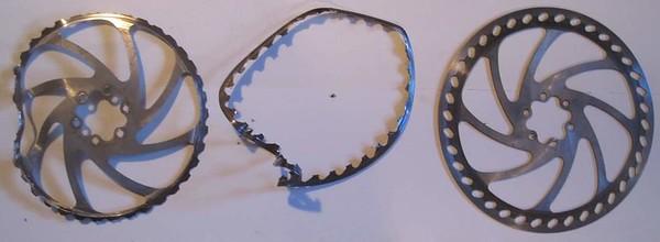 Brake disc rotor failures