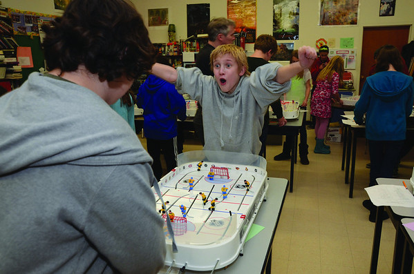Table hockey scores big in school