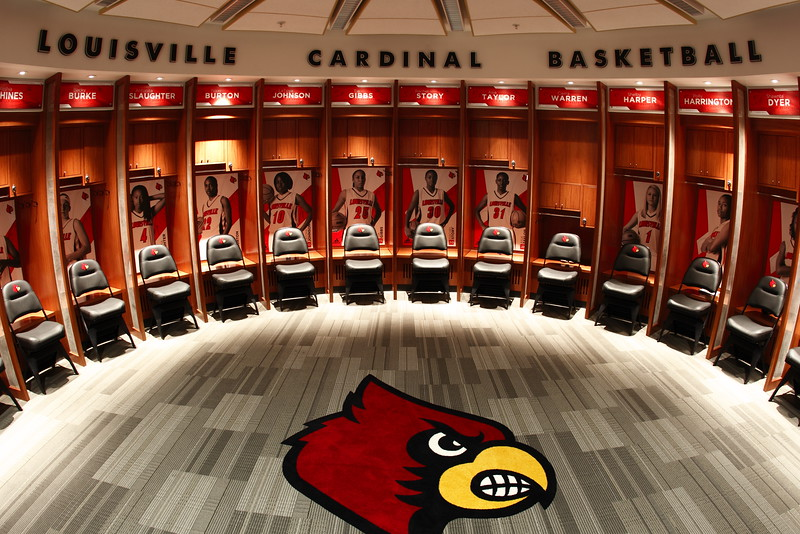 Women's Basketball Lockers, KFC Yum! Center