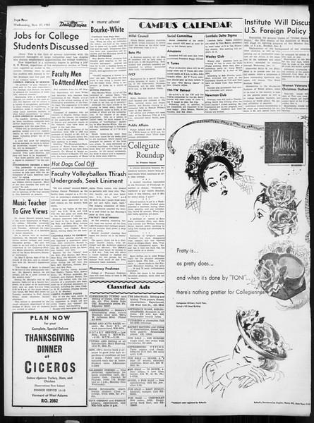 Daily Trojan, Vol. 38, No. 53, November 27, 1946