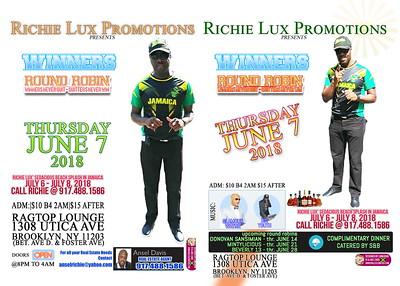 "RICHIE LUX PROMOTIONS ""WINNER ROUND ROBIN""(0)"
