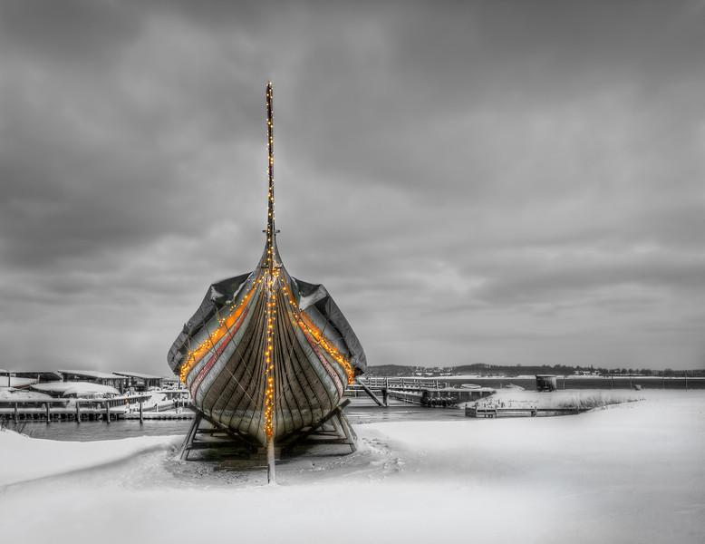 Christmas Viking Ship