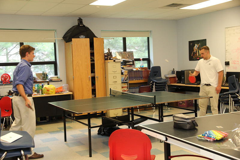 you can always play ping-pong at Ellison, no matter your age..