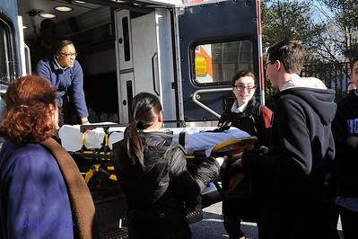 EMT work with NC Police Ambulance 3-18-14 BroRoger