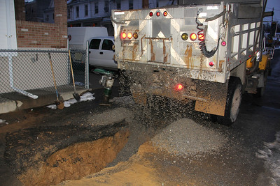 Water Pipe Repair, Glenwood Avenue, Columbia Street, Tamaqua (12-20-2013)