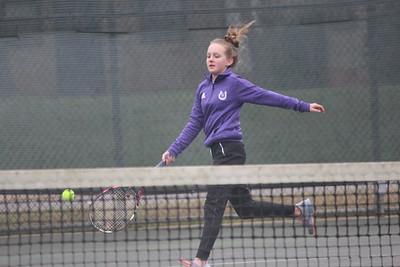 Center High School tennis team at Hudson Invitational on SFA campus