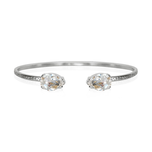 Petite Drop Bracelet / Crystal / Rhodium