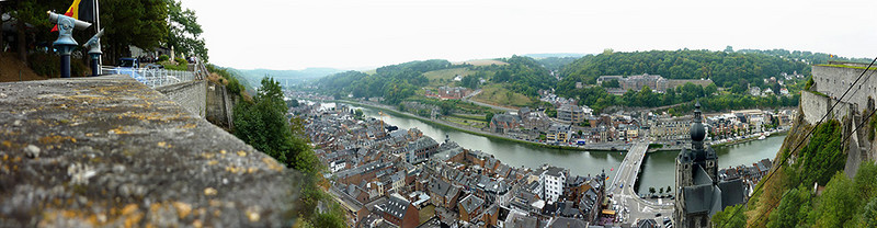 Dinant. Mary took a gondola up to the citadel above the town, and got to see a nice view from above.
