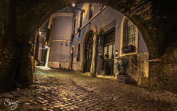 Fairytale Street. Trasvestere, Rome, Italy