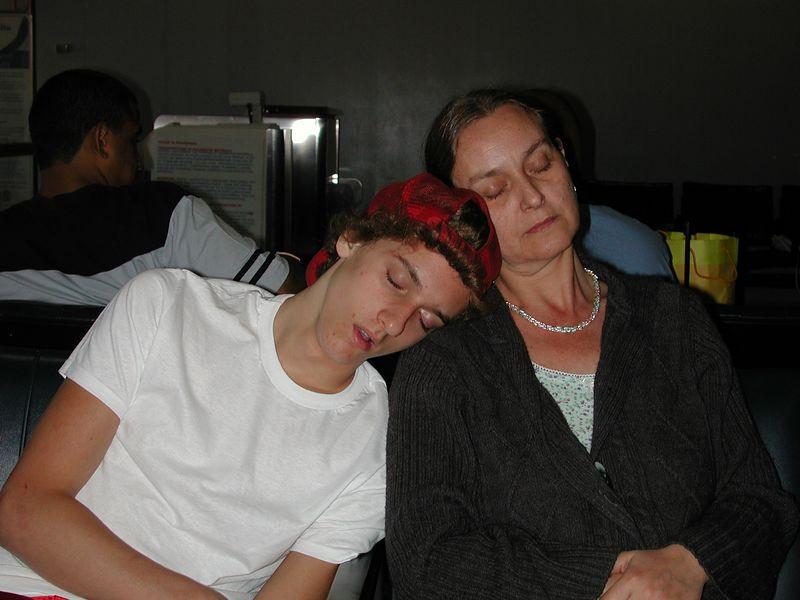 Sleepy Josh & Mom.