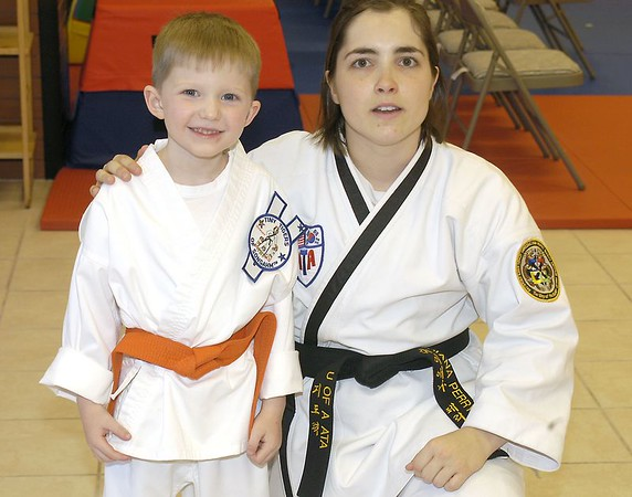 Connor's Taekwondo Graduation April 22, 2005