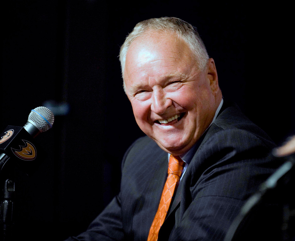 . <b>41. Randy Carlyle, 61, Ducks Head Coach </b> <br>Already beloved in Anaheim because of the 2006 Stanley Cup he won as the Ducks head coach, in the first season of his second stint with the team ... (Sam Gangwer/Orange County Register/SCNG)