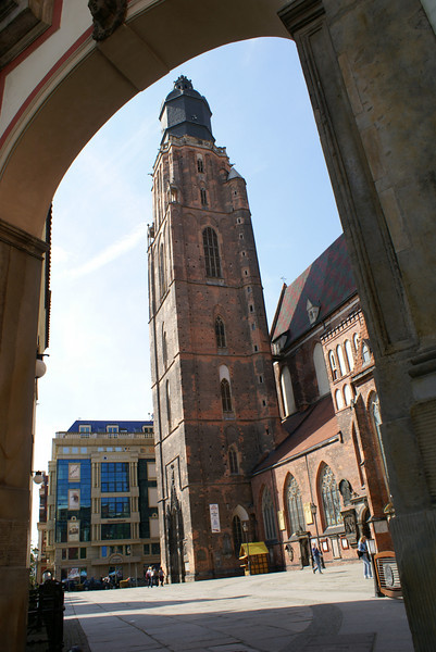 Wroclaw's main church.  I bribed a guy to let me climb that tower after hours.