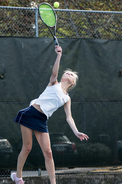 2019 Girls Varsity Tennis vs. Putnam