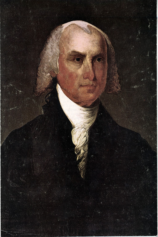 . This is an undated photo of a portrait of U.S. President James Madison.  (AP Phtoo)