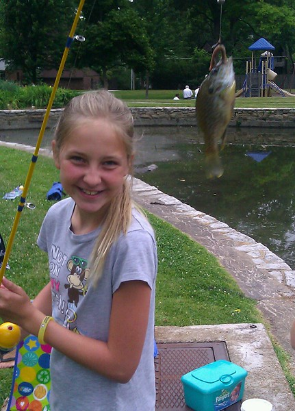 The fish were bitting today. Every other cast hooked a new fish.