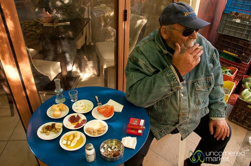 Morning Snack at Heraklion Market - Crete, Greece