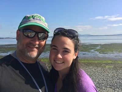 Moki and Dad kayak San Juan