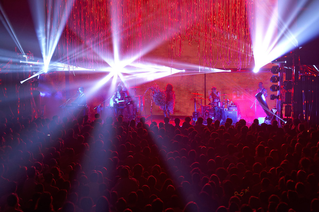 . The Flaming Lips light show at Fillmore Detroit on 6-12-14. Photo by Ken Settle
