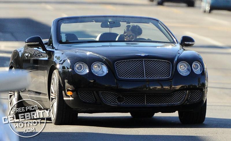 EXC: Kat Von D Has Hanging Crucifix In Convertible GT Bentley