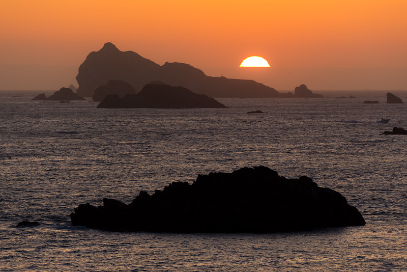 Crescent City Sunset from Battery Point Lighthouse