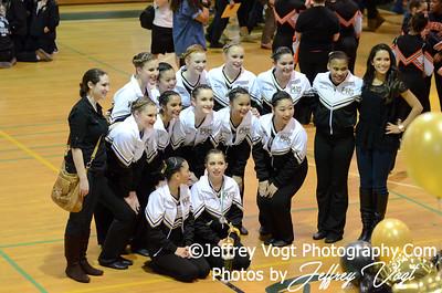 01-12-2013 Poolesville HS Poms at Damascus HS Division 2, Photos by Jeffrey Vogt Photography