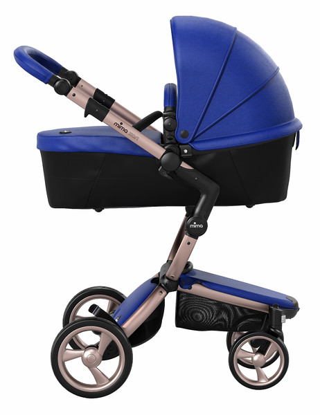 Mima_Xari_Product_Shot_Royal_Blue_Rose_Gold_Chassis_Black_Carrycot_Side_View.jpg