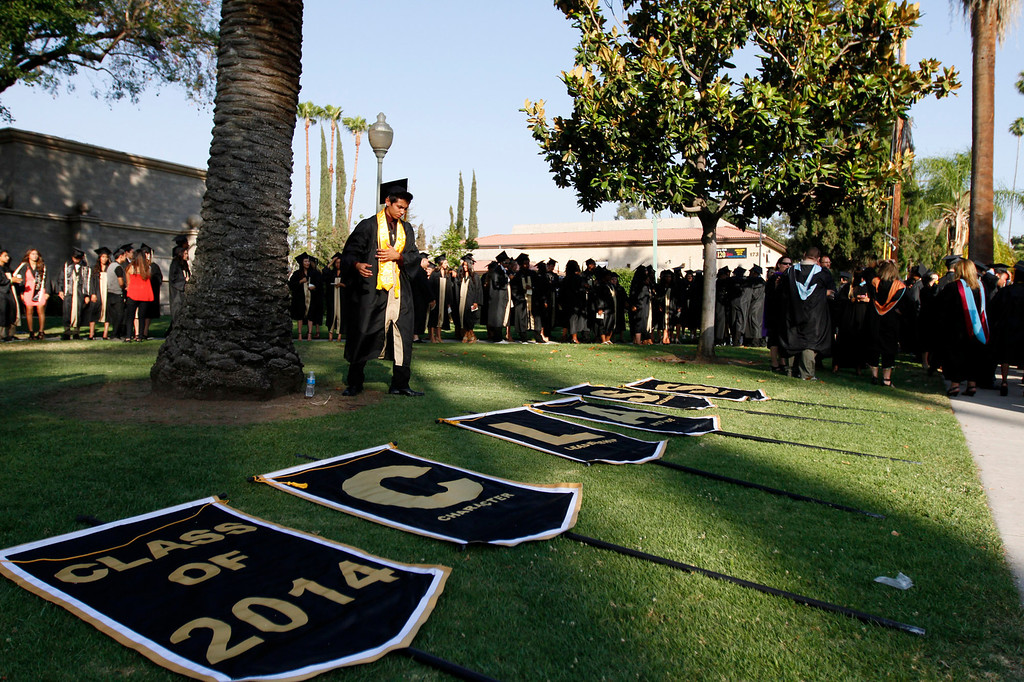 . Citrus Valley High School graduation ceremony takes place on Wednesday, June 11, 2014 at the Redlands Bowl in Redlands, Ca.  (Photo by Micah Escamilla/Redlands Daily Facts)