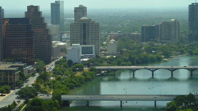 Drone footage Colorado River Austin Texas