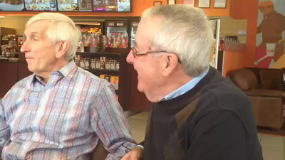 Have you ever seen all those old men hanging around Dunkin Donuts in the morning? Guess what - that is us! Here's a short video of the Meeting of the Minds that took place this morn in Pelham, NH. Enjoy.
