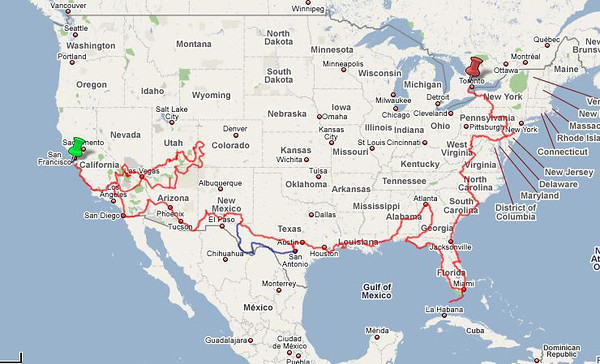 North America Travel Maps