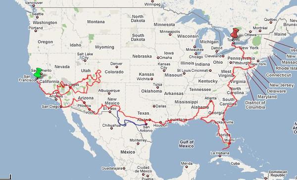 North America Travel Maps