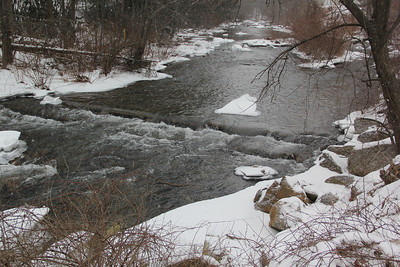 Snow Views, Little Schuylkill River, Tamaqua (1-26-2014)