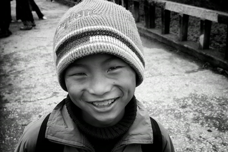 Portrait of a boy.  Vietnam, 2008.