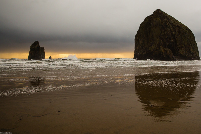 Haystack Rock Before the Storm.jpg