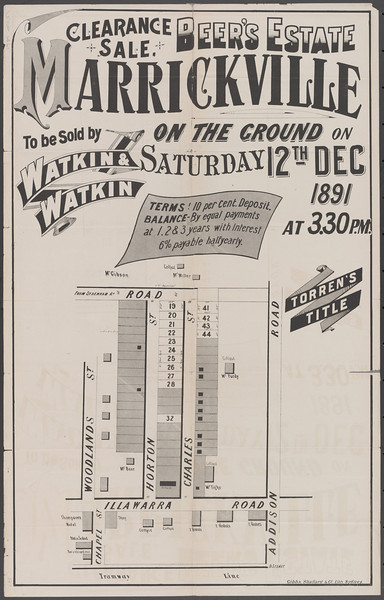 Original sale poster for our land
