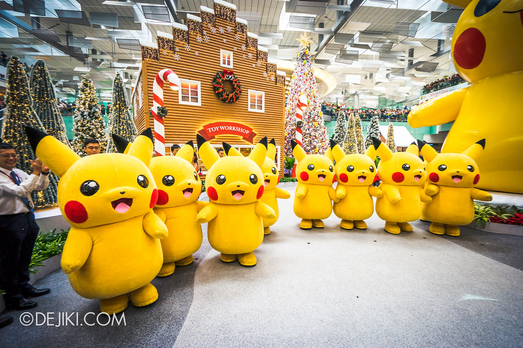 Pokémon at Changi Airport - Pikachu Parade Row