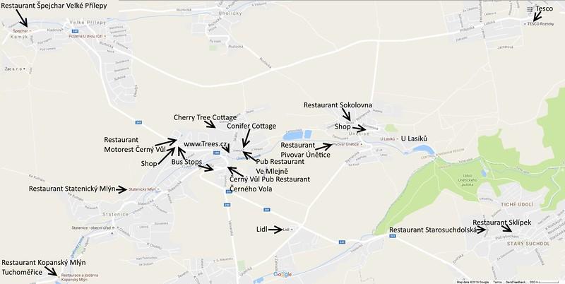 Maps of Shops near IdyllicPrague