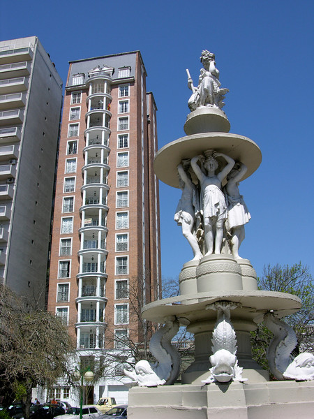 Argentina, San Nicolás. Modern square.