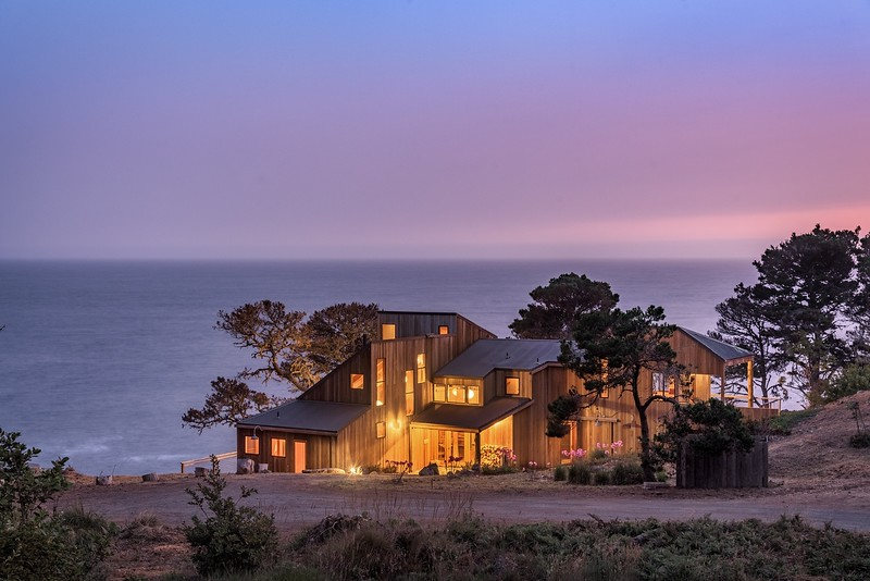 Twilight at Halprin House