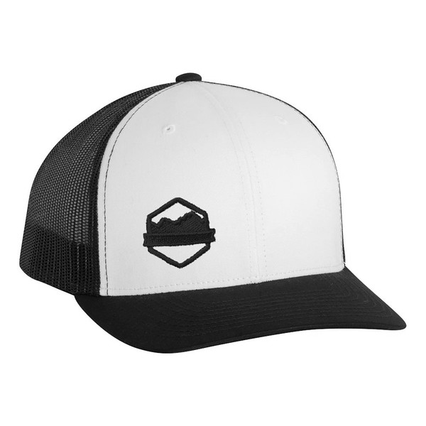 Organ Mountain Outfitters - Outdoor Apparel - Hat - Logo Retro Trucker Cap - White Black.jpg