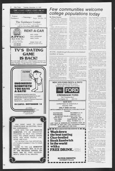 Daily Trojan, Vol. 75, No. 37, November 14, 1978
