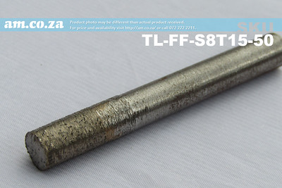 TL-FF-S8T15-50 , 8mm Flat End Mill Granite Stone Router Bit with 15mm Fine Grit, Full Length ⩾50mm