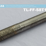 SKU: TL-FF-S8T15-50, 8mm Flat End Mill Granite Stone Router Bit with 15mm Fine Grit, Full Length ⩾50mm