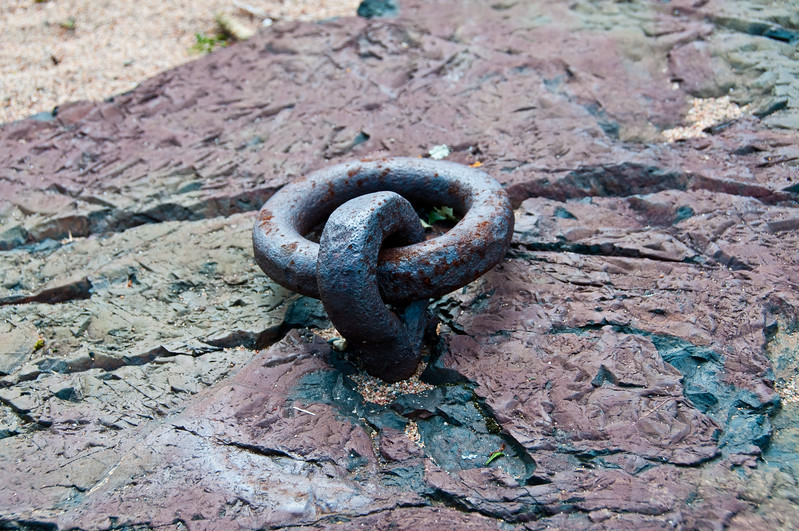 Rusty mooring ring - Lake Huron