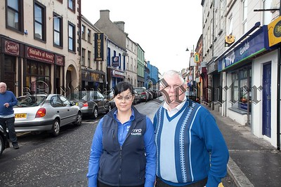 Bertie Flynn (Proprietor Sineads of Newry) and Claire Ferguson (Manager Vivo) are pictured on Canal Street. R1521014