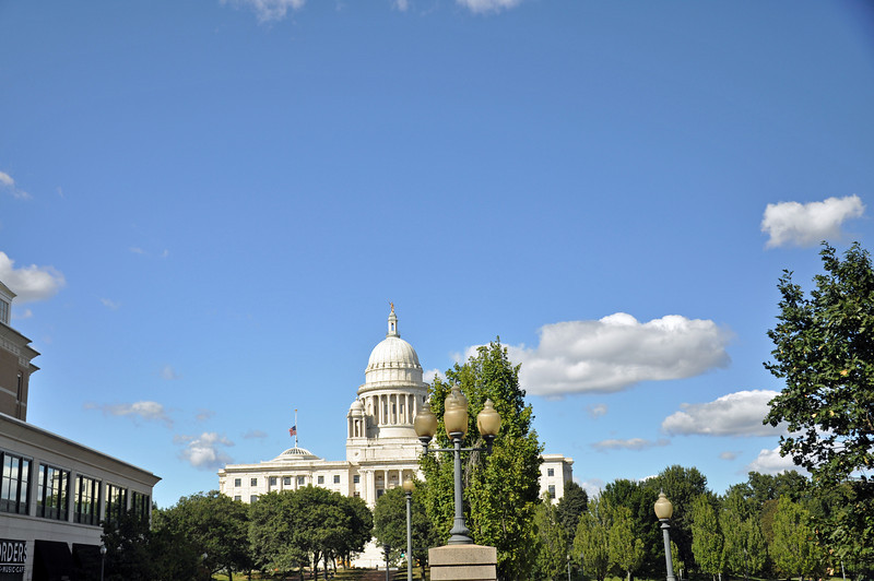 The State House with Providence Place Mall on the left side of the picture.